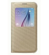 Оригинальный чехол S View для Samsung Galaxy S6 G920 Gold (EF-CG920BFEGRU)