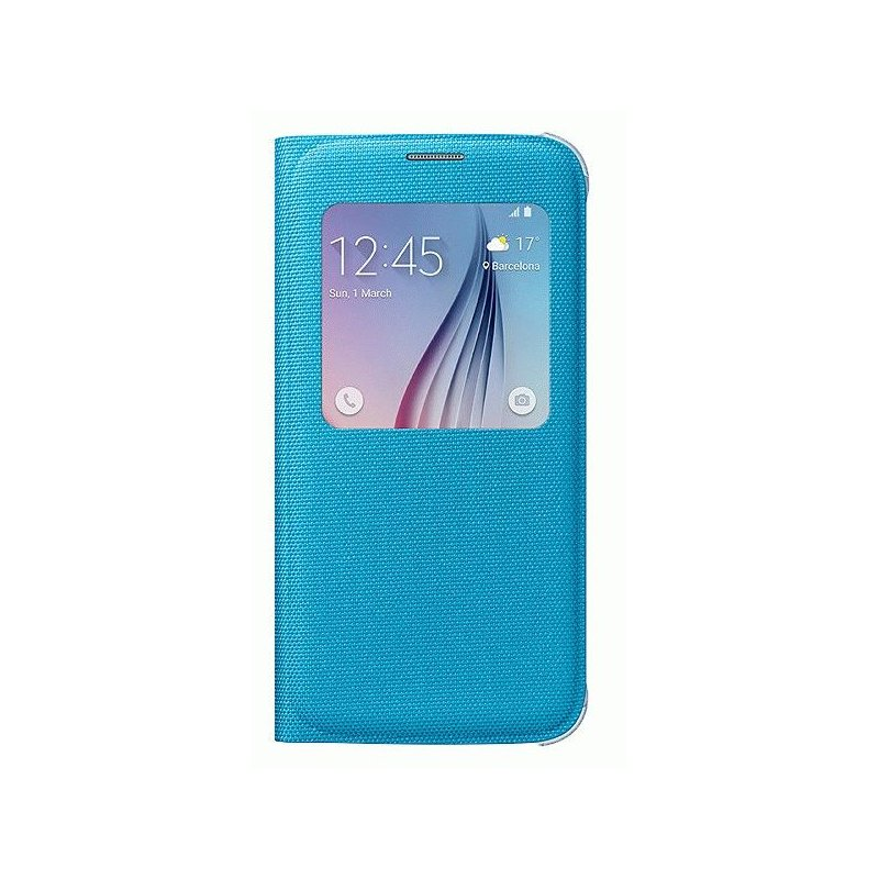 Оригинальный чехол S View для Samsung Galaxy S6 G920 Blue (EF-CG920BLEGRU)