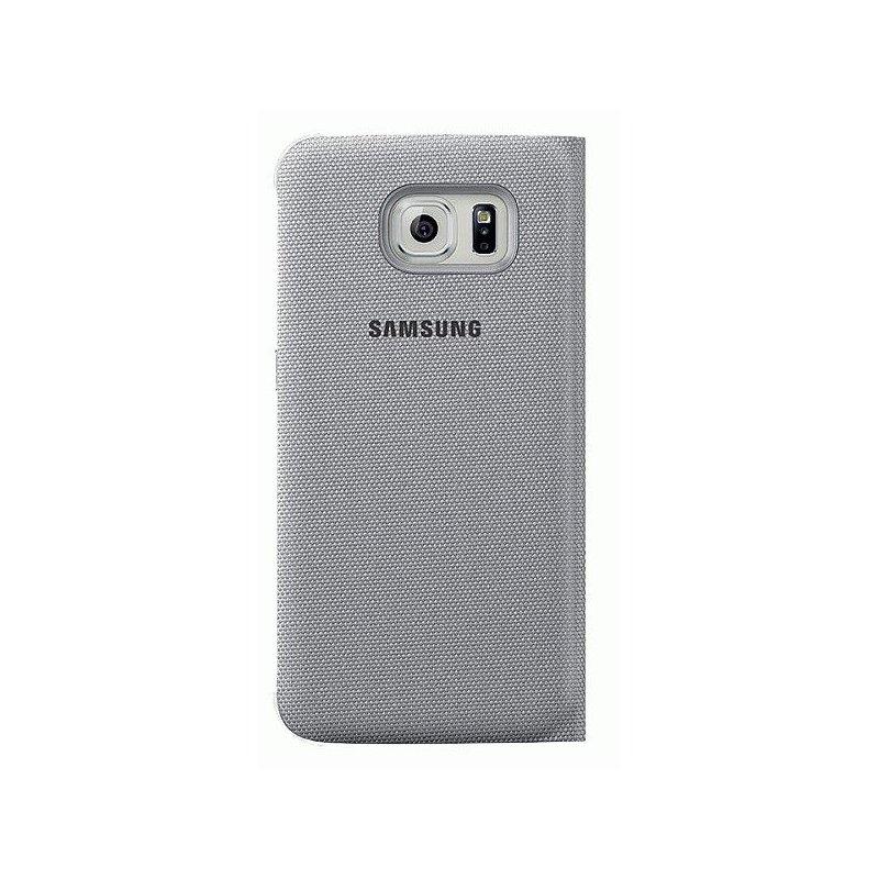 Оригинальный чехол S View для Samsung Galaxy S6 G920 Silver (EF-CG920BSEGRU)