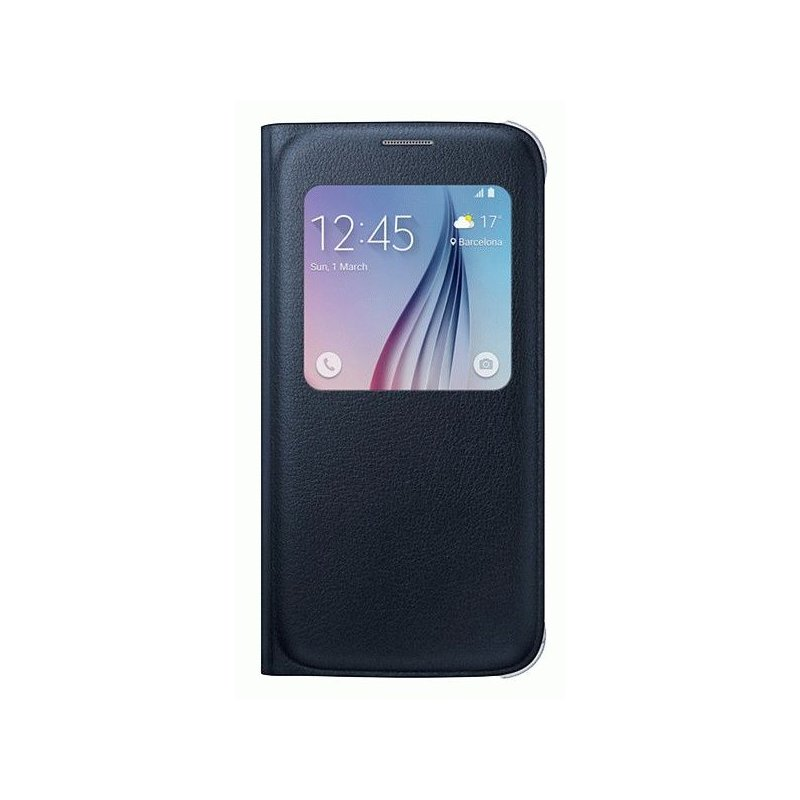 Оригинальный чехол S View для Samsung Galaxy S6 G920 Blue-Black (EF-CG920PBEGRU)