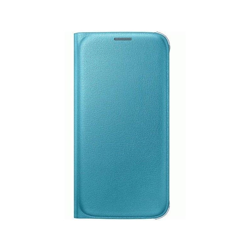 Оригинальный чехол Flip Wallet для Samsung Galaxy S6 G920 Blue (EF-WG920PLEGRU)