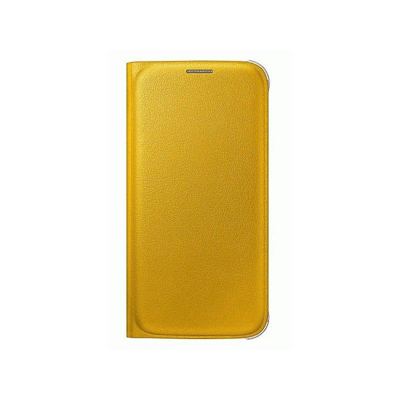Оригинальный чехол Flip Wallet для Samsung Galaxy S6 G920 Yellow (EF-WG920PYEGRU)