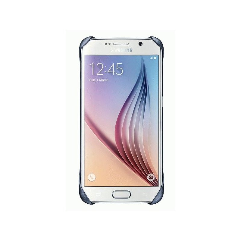 Оригинальный чехол Protective Cover для Samsung Galaxy S6 G920 Blue-Black (EF-YG920BBEGRU)