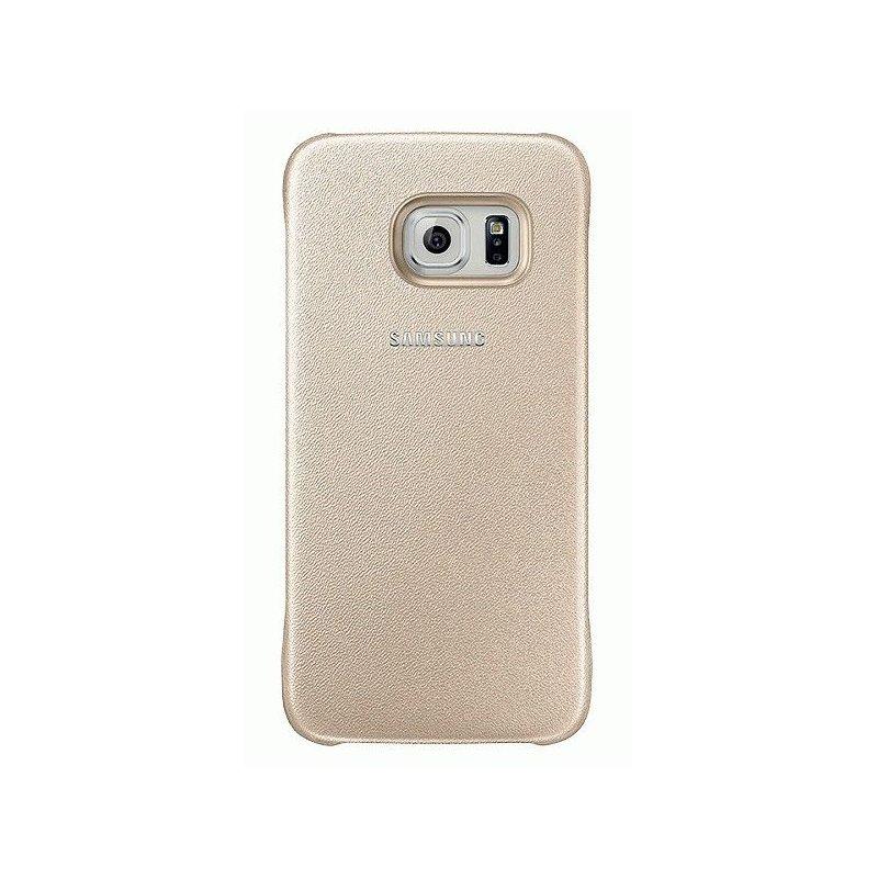 Оригинальный чехол Protective Cover для Samsung Galaxy S6 G920 Gold (EF-YG920BFEGRU)