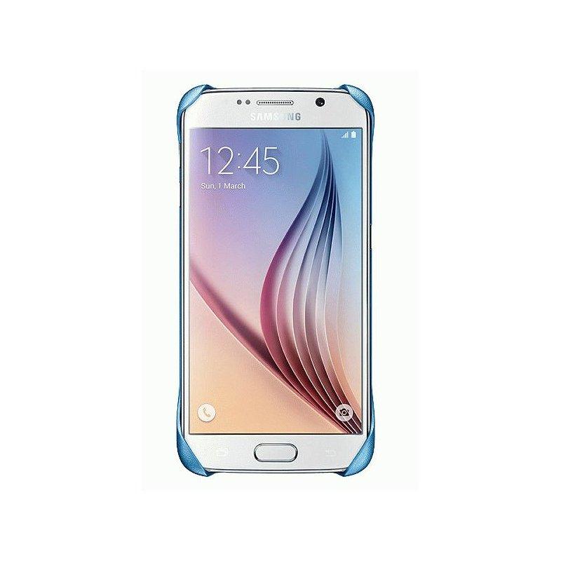 Оригинальный чехол Protective Cover для Samsung Galaxy S6 G920 Blue (EF-YG920BLEGRU)