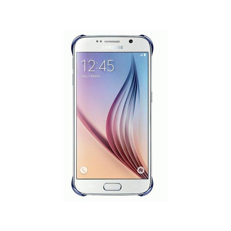 Оригинальный чехол Clear Cover для Samsung Galaxy S6 G920 Half Transparent Black (EF-QG920BBEGRU)