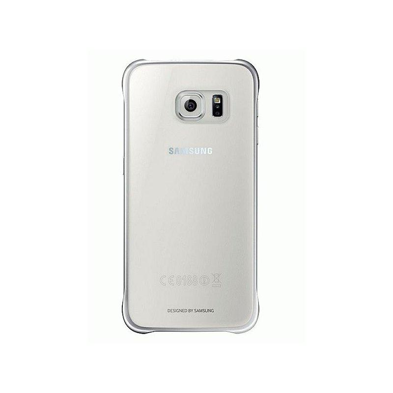 Оригинальный чехол Clear Cover для Samsung Galaxy S6 G920 Half Transparent Silver (EF-QG920BSEGRU)