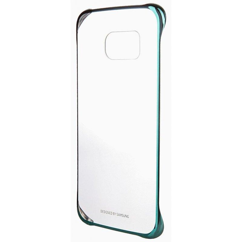 Оригинальный чехол Clear Cover для Samsung Galaxy S6 Edge G925F Green (EF-QG925BGEGRU)