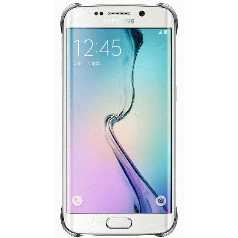 Оригинальный чехол Clear Cover для Samsung Galaxy S6 Edge G925F Silver (EF-QG925BSEGRU)