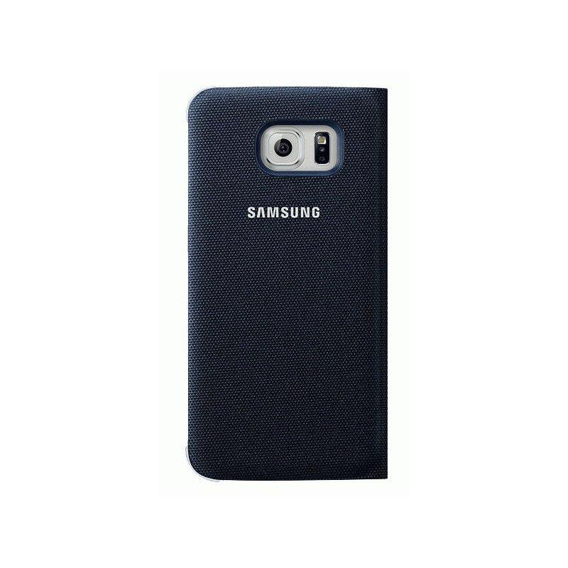 Оригинальный чехол Flip Wallet для Samsung Galaxy S6 Edge G925F Blue-Black (EF-WG925BBEGRU)