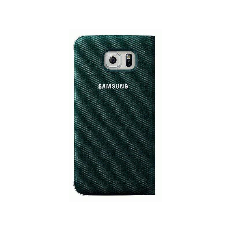 Оригинальный чехол Flip Wallet для Samsung Galaxy S6 Edge G925F Green (EF-WG925BGEGRU)