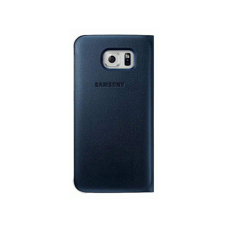 Оригинальный чехол Flip Wallet для Samsung Galaxy S6 Edge G925F Blue-Black (EF-WG925PBEGRU)