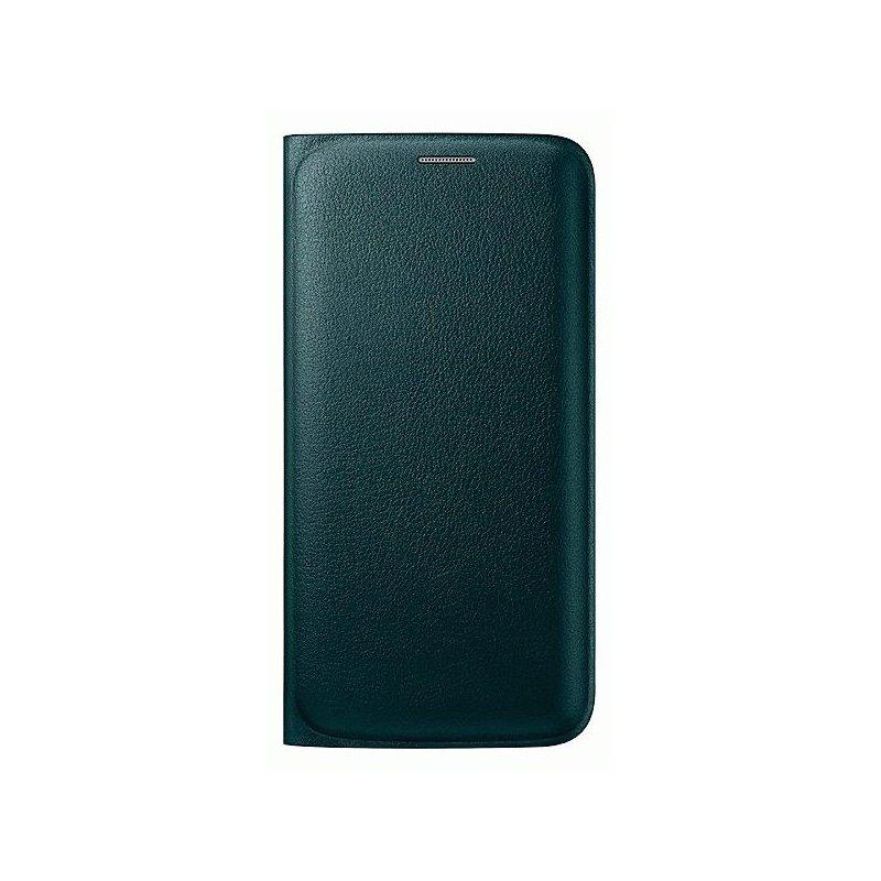 Оригинальный чехол Flip Wallet для Samsung Galaxy S6 Edge G925F Green (EF-WG925PGEGRU)