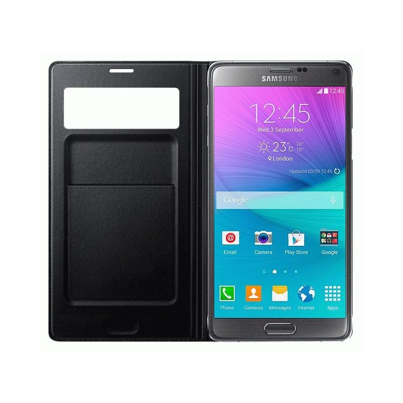 Оригинальный чехол S View Wallet Mini Window для Samsung Galaxy Note 4 N910H Black (EF-EN910FKEGRU)