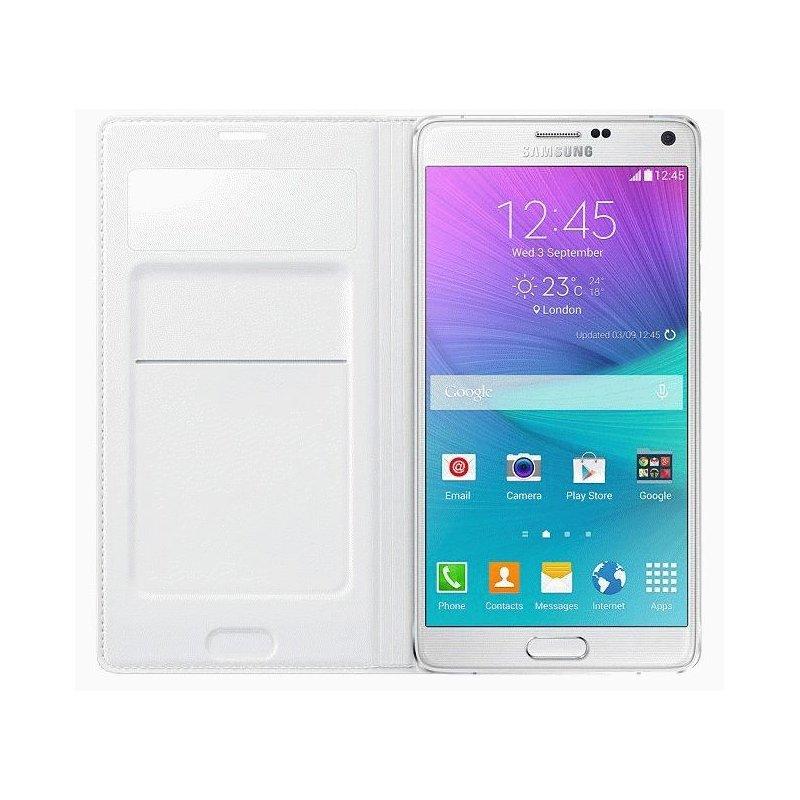 Оригинальный чехол S View Wallet Mini Window для Samsung Galaxy Note 4 N910H White (EF-EN910FTEGRU)