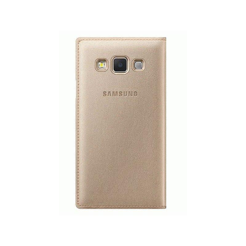 Оригинальный чехол Flip Cover для Samsung Galaxy A3 Duos A300H/DS Gold (EF-FA300BFEGRU)