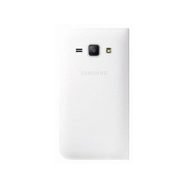 Оригинальный чехол Flip Cover для Samsung Galaxy J1 Duos J100H/DS White (EF-FJ100BWEGRU)