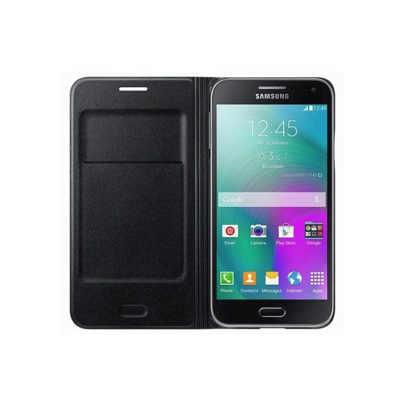 Оригинальный чехол Flip Wallet для Samsung Galaxy E5 Duos E500H/DS Black (EF-WE500BBEGRU)