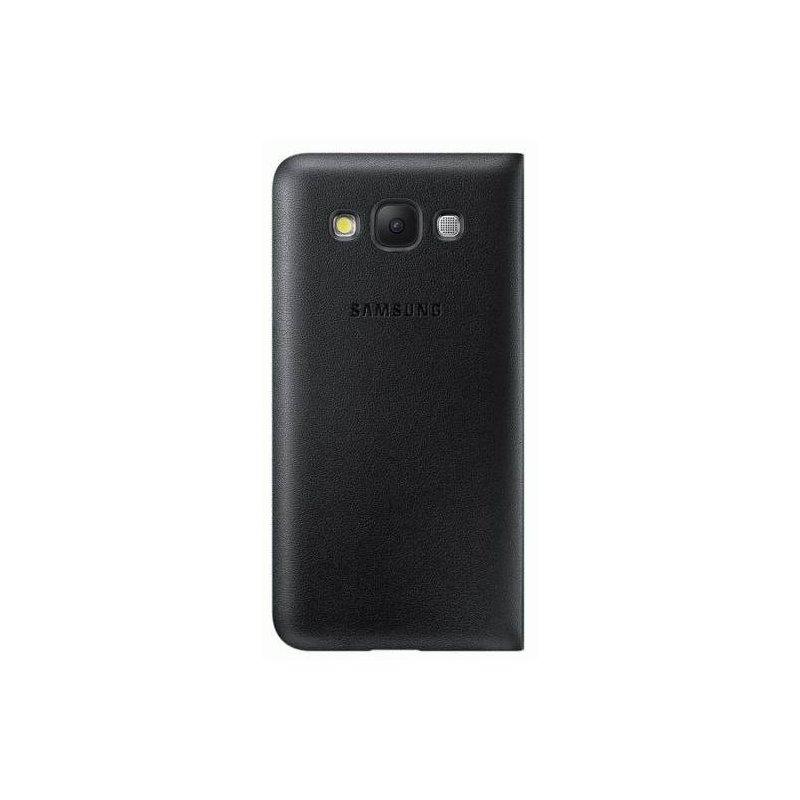 Оригинальный чехол Flip Wallet для Samsung Galaxy E5 Duos E500H/DS Black (EF-WE500BBEGRU)