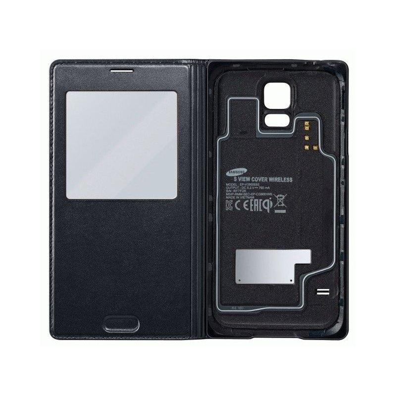 Оригинальный чехол S View Cover Wireless для Samsung Galaxy S5 G900 Black (EP-VG900BBRGRU)