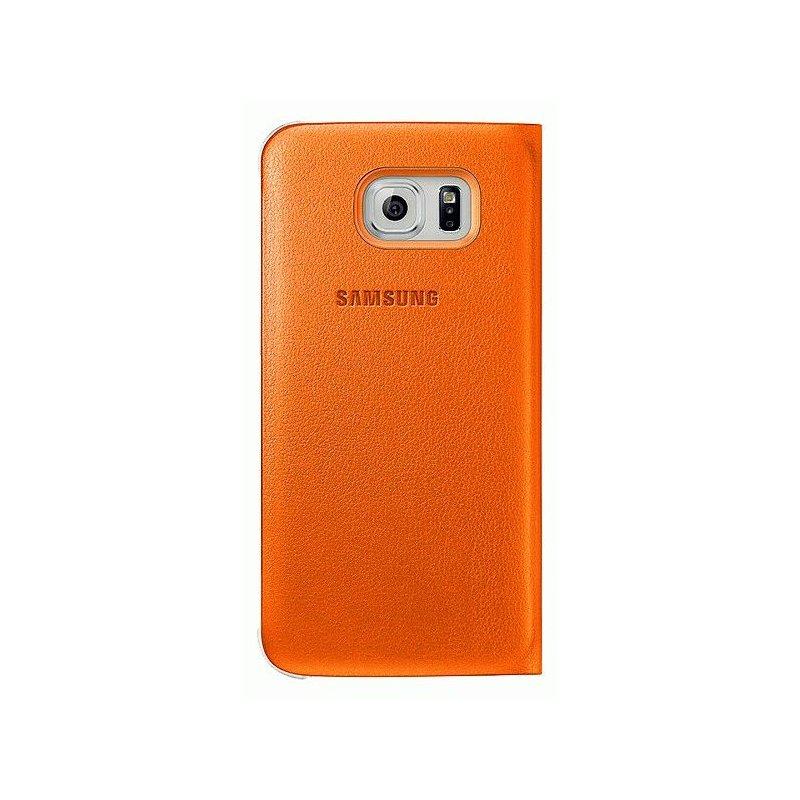 Оригинальный чехол Flip Wallet для Samsung Galaxy S6 Edge G925F Orange (EF-WG925POEGRU)