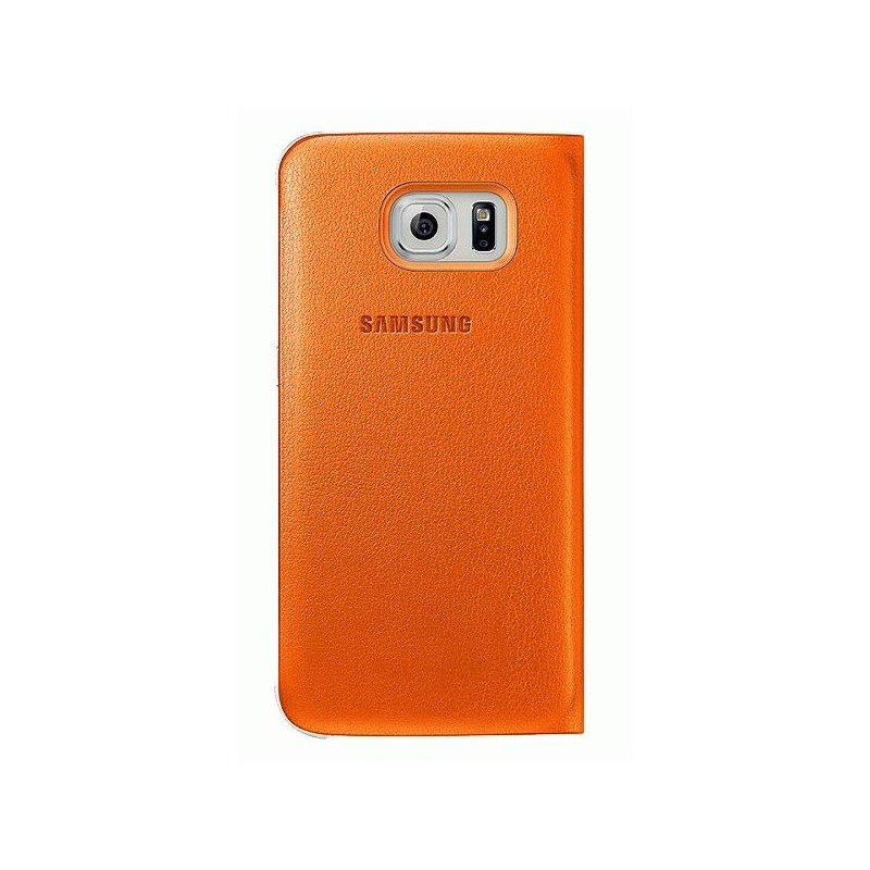 Оригинальный чехол S View для Samsung Galaxy S6 G920 Orange (EF-CG920POEGRU)