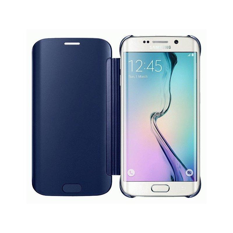 Оригинальный чехол Clear View Cover для Samsung Galaxy S6 Edge G925F Black (EF-ZG925BBEGRU)