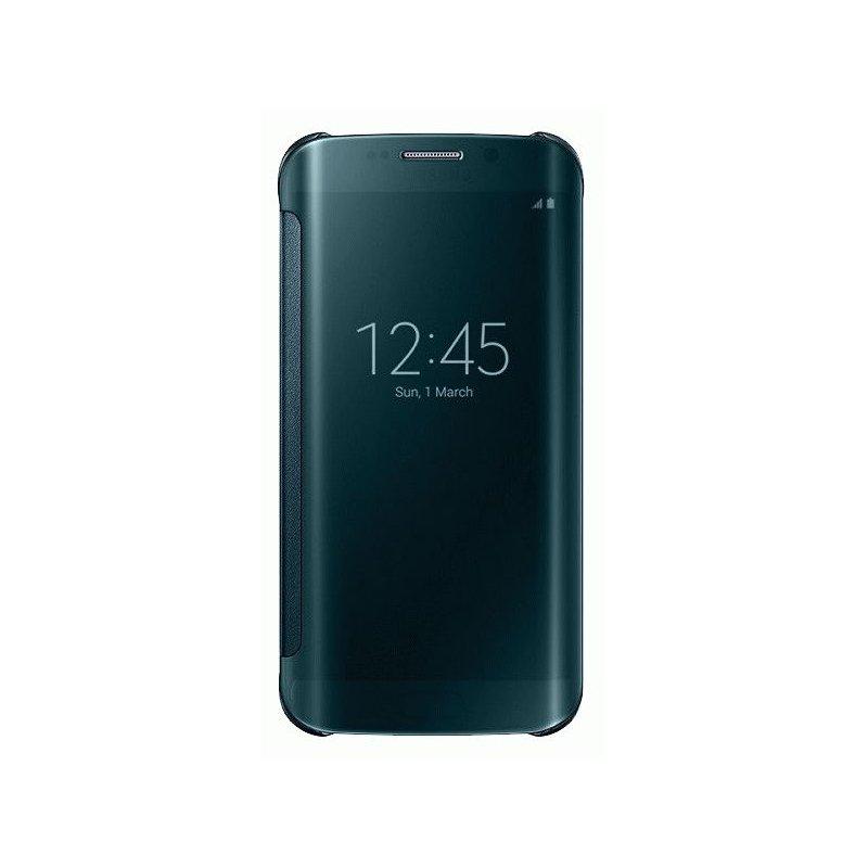 Оригинальный чехол Clear View Cover для Samsung Galaxy S6 Edge G925F Green (EF-ZG925BGEGRU)