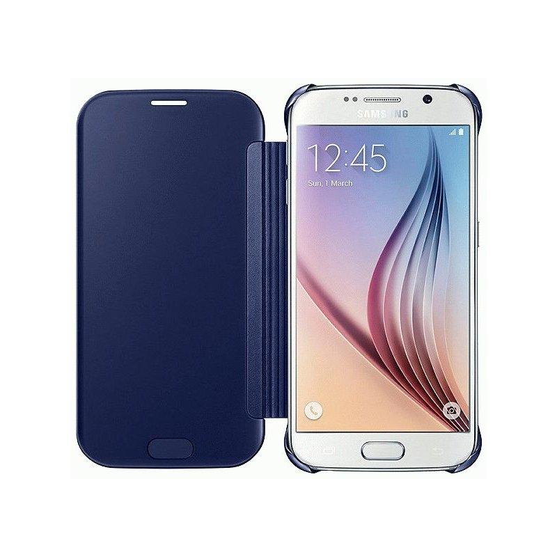 Оригинальный чехол Clear View Cover для Samsung Galaxy S6 G920 Black (EF-ZG920BBEGRU)