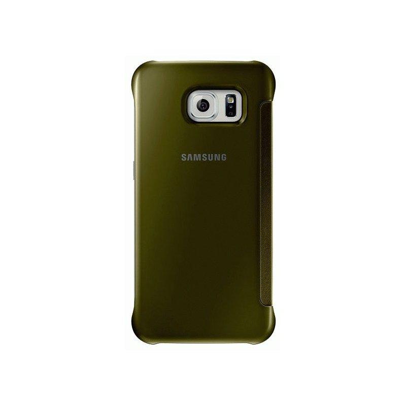 Оригинальный чехол Clear View Cover для Samsung Galaxy S6 G920 Gold (EF-ZG920BFEGRU)