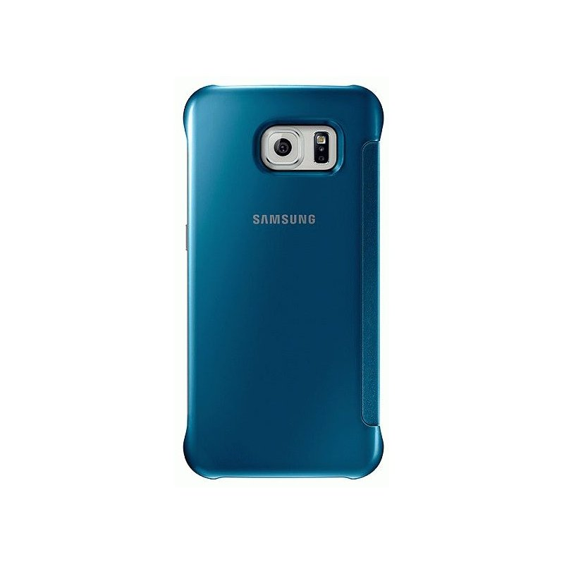 Оригинальный чехол Clear View Cover для Samsung Galaxy S6 G920 Blue (EF-ZG920BLEGRU)