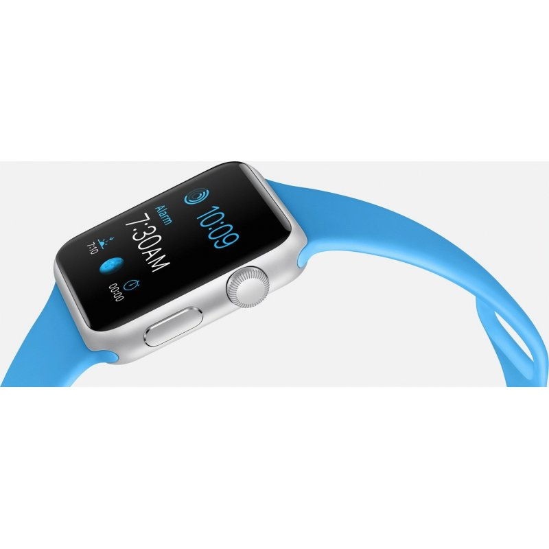 Apple Watch Sport 42mm Silver Aluminum Case with Blue Sport Band