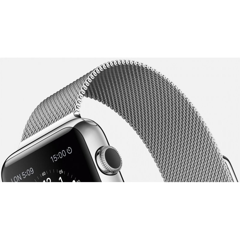 Apple Watch 38mm Stainless Steel Case with Milanese Loop