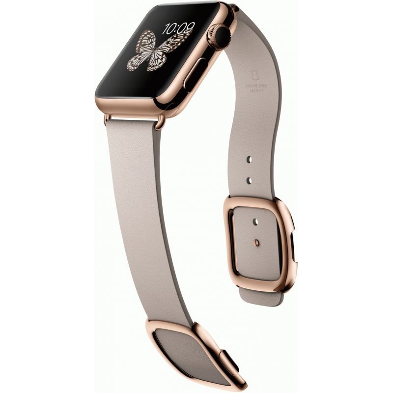 Apple Watch Edition 38mm 18-Karat Rose Gold Case with Rose Gray Modern Buckle Size S (MJ3K2LL/A)