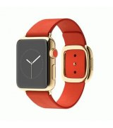 Apple Watch Edition 38mm 18-Karat Yellow Gold Case with Bright Red Modern Buckle Size L (MJ3G2)