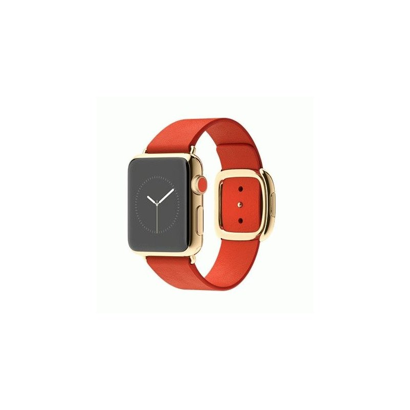 Apple Watch Edition 38mm 18-Karat Yellow Gold Case with Bright Red Modern Buckle Size L (MJ3G2LL/A)