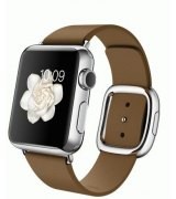 Apple Watch 38mm Stainless Steel Case with Brown Modern Buckle Size S (MJ3A2)
