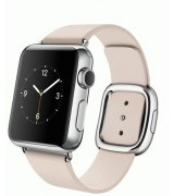 Apple Watch 38mm Stainless Steel Case with Soft Pink Modern Buckle Size S (MJ362)