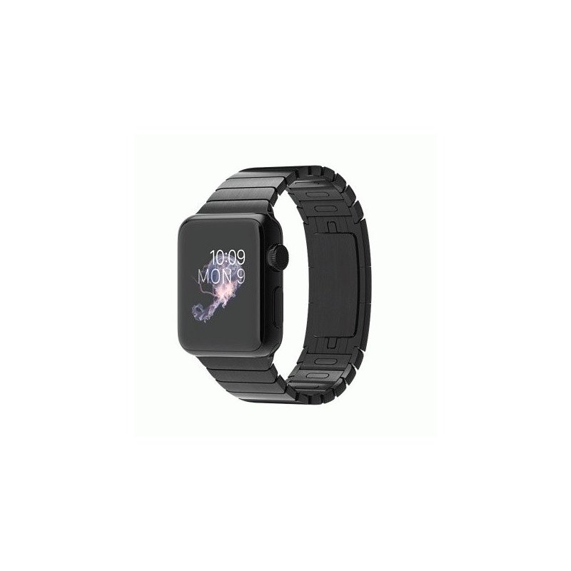 Apple Watch 38mm Space Black Stainless Steel Case with Space Black Stainless Steel Link Bracelet (MJ3F2LL/A)
