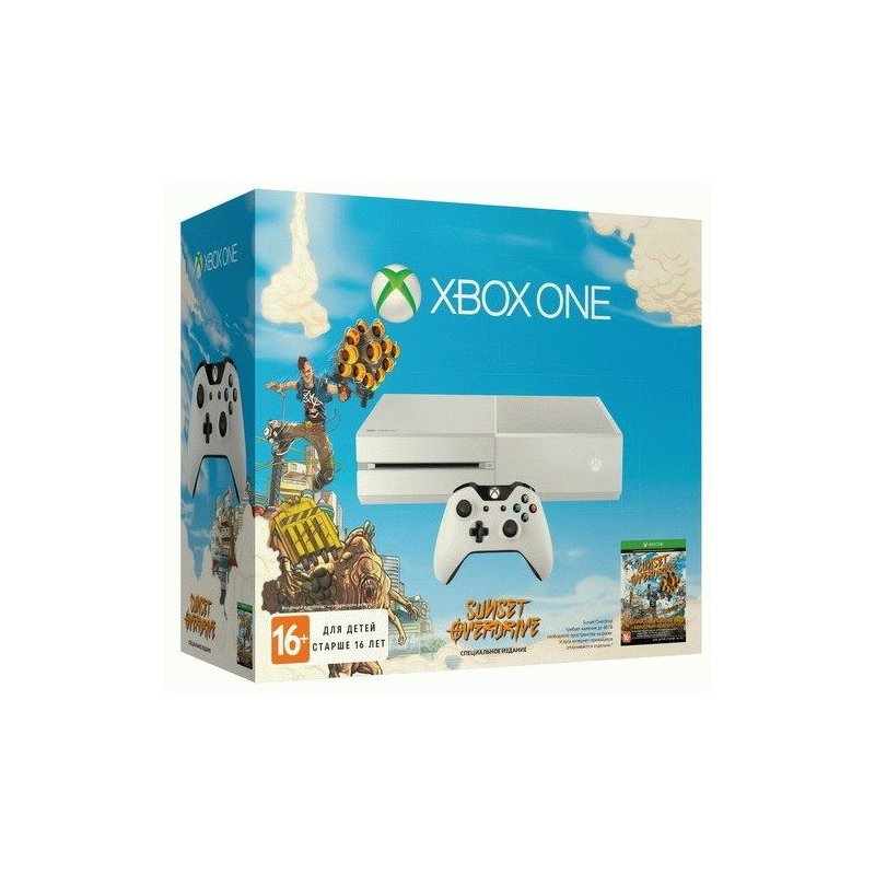 Microsoft Xbox ONE White + Sunset Overdrive