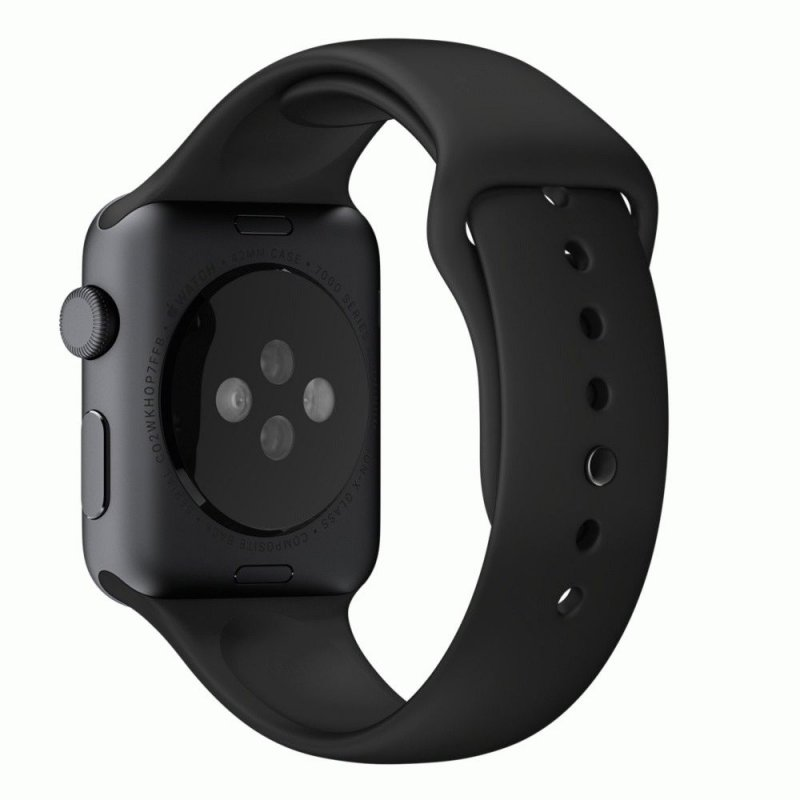 Ремешок для Apple Watch 42mm Black Sport Band with Space Gray Stainless Steel Pin (MJ4N2)