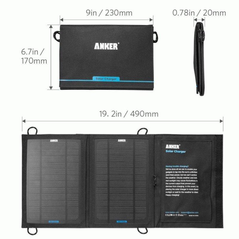 Солнечная батарея Anker 8W Portable Foldable Solar Charger