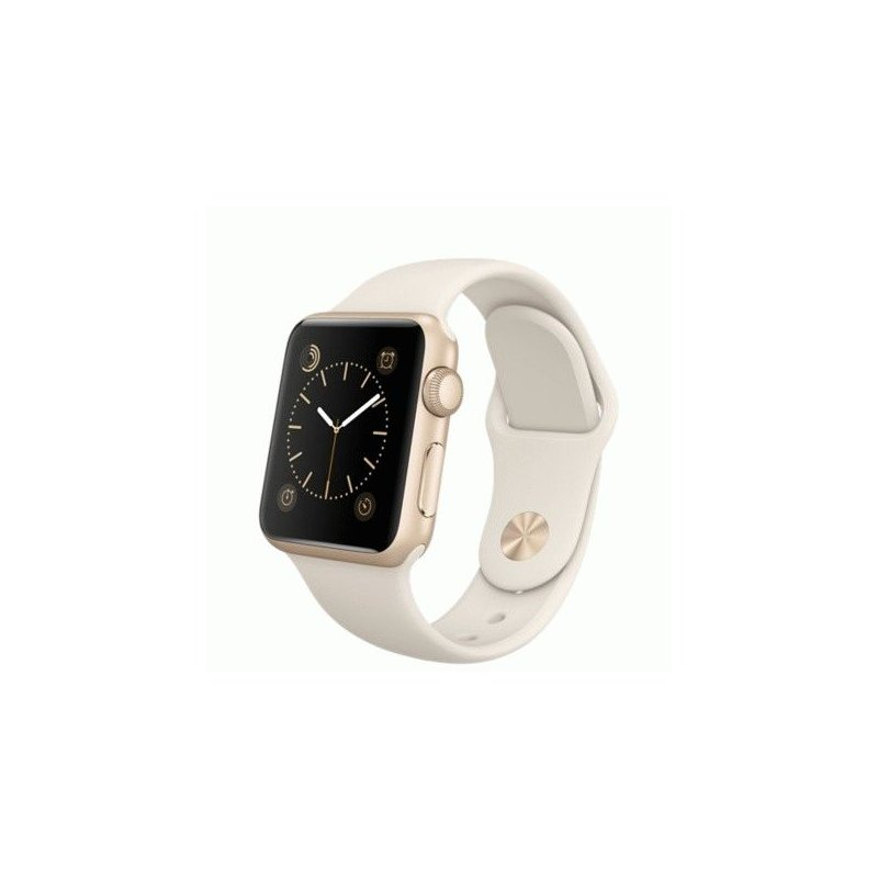 Apple Watch Sport 38mm Gold Aluminum Case with Antique White Sport Band (MLCJ2LL/A)