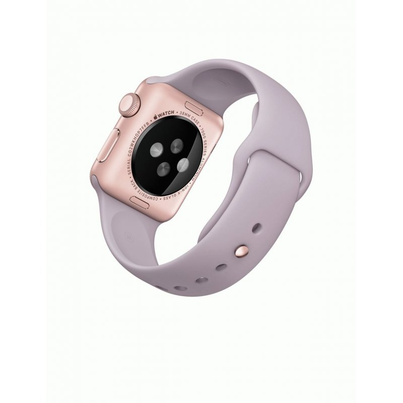 Apple Watch Sport 38mm Rose Gold Aluminum Case with Lavender Sport Band (MLCH2LL/A)