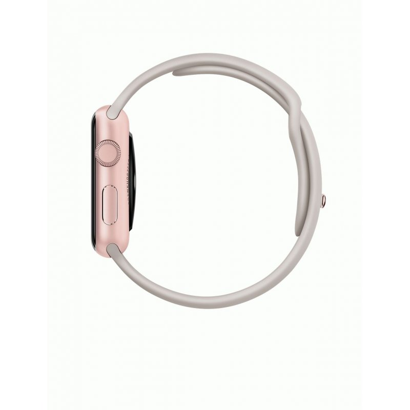 Apple Watch Sport 42mm Rose Gold Aluminum Case with Stone Sport Band (MLC62LL/A)