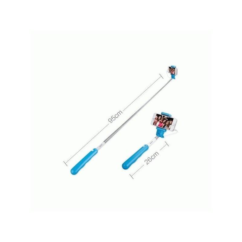 Телескопический монопод Remax Selfie Stick Blue