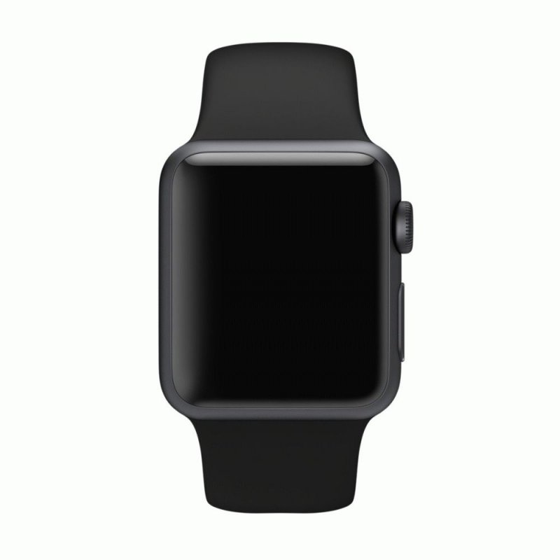 Ремешок для Apple Watch 38mm Black Sport Band with Space Black Pin (MJ4F2)