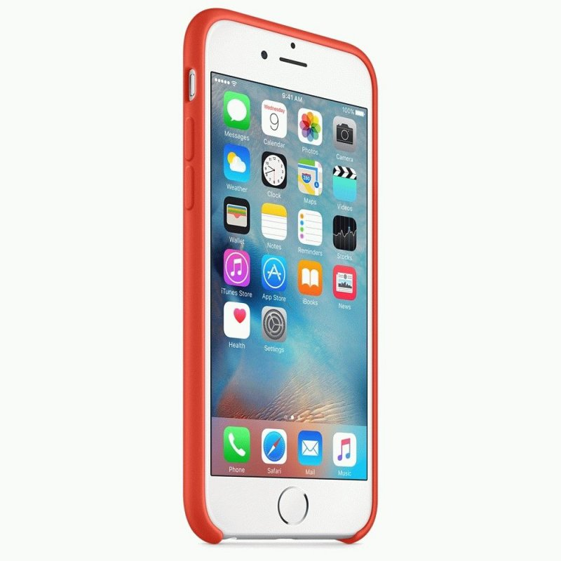 Чехол Apple iPhone 6s Silicone Case Orange (MKY62ZM/A)