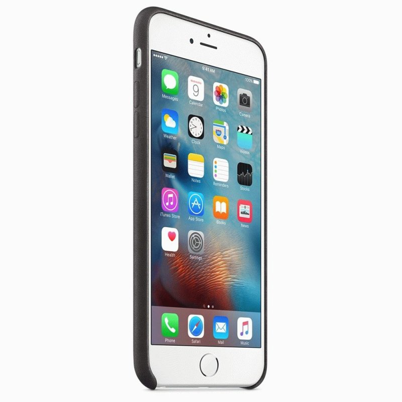 Чехол Apple iPhone 6s Plus Leather Case Black (MKXF2ZM/A)