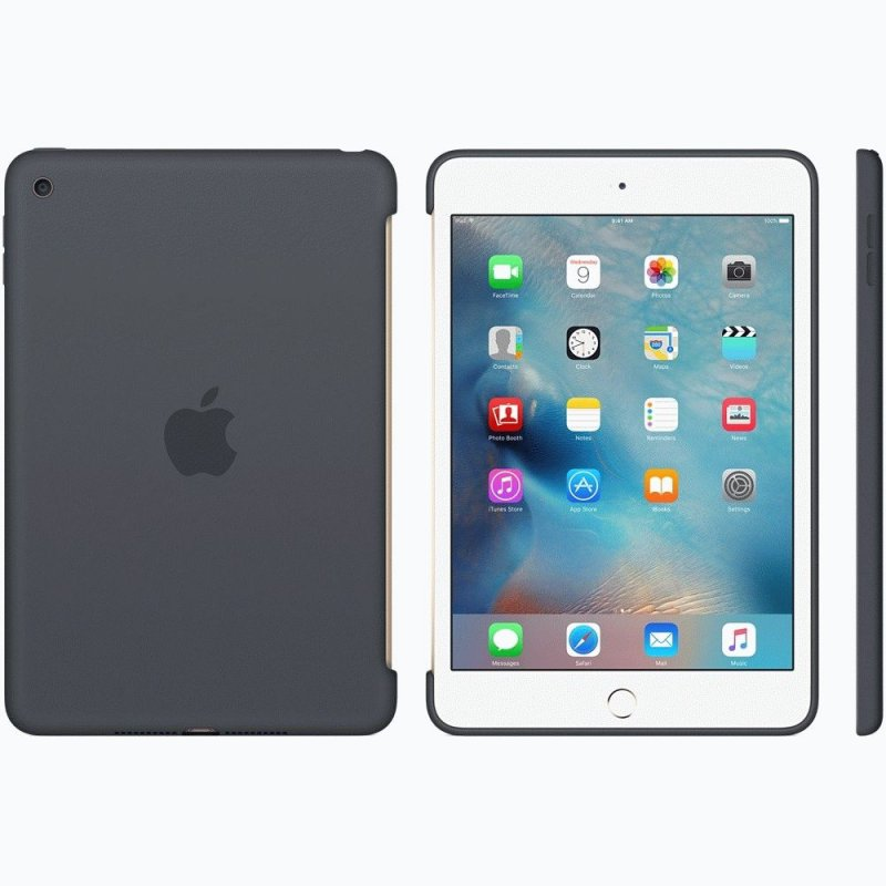 Накладка Apple Silicone Case для iPad mini 4 Charcoal Gray (MKLK2ZM/A)